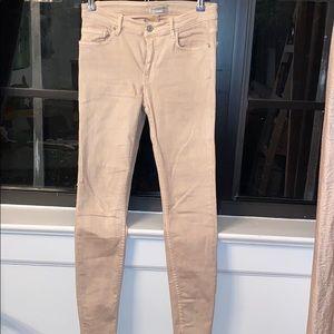Blush colored, ZARA, skinny jeans